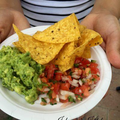 pico de gallo (salsa) and guacamole