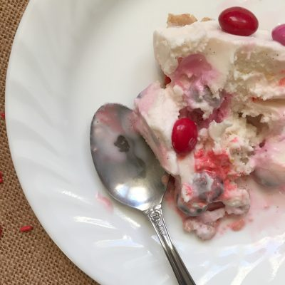 M&M's® Strawberry-Vanilla Ice Cream Pie