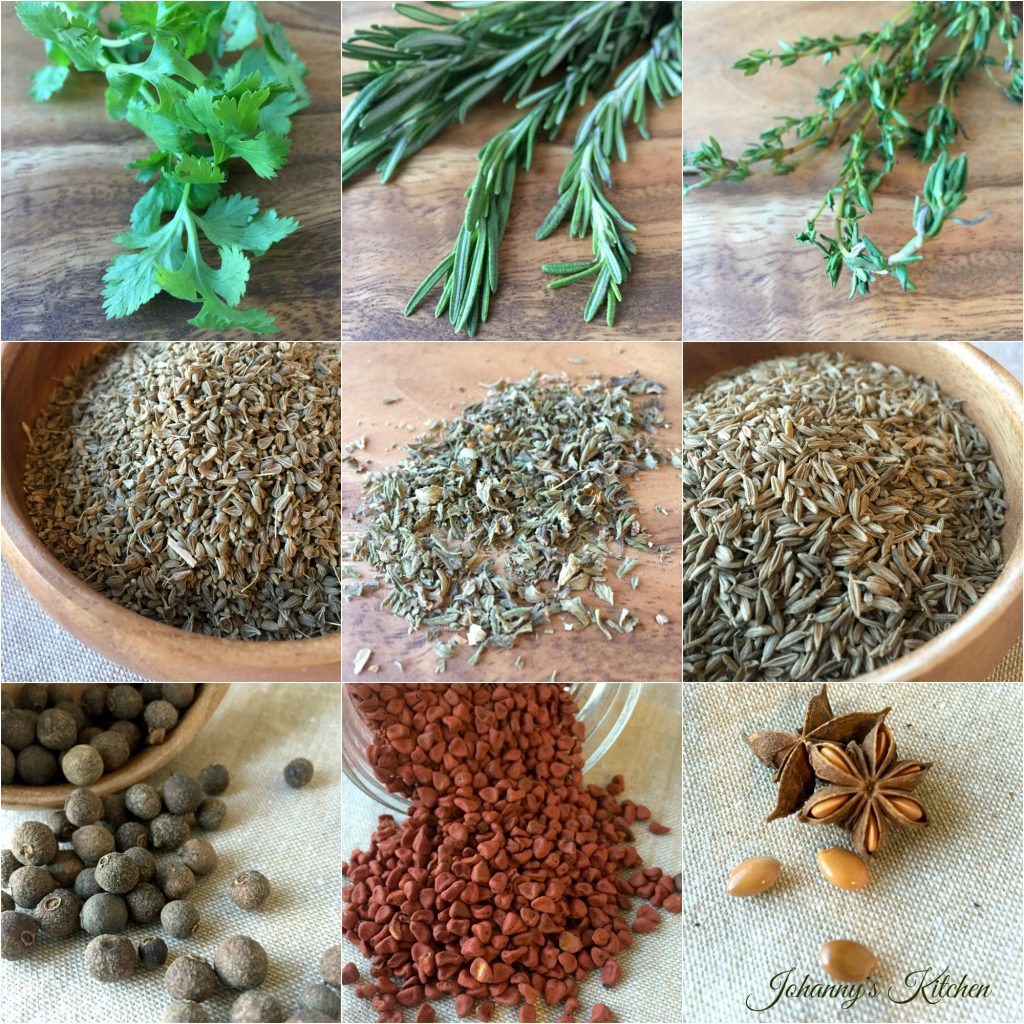 herbs-spices-collage
