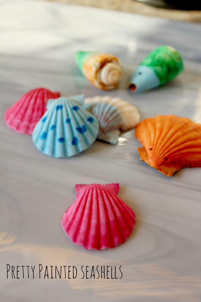 pretty painted seashells