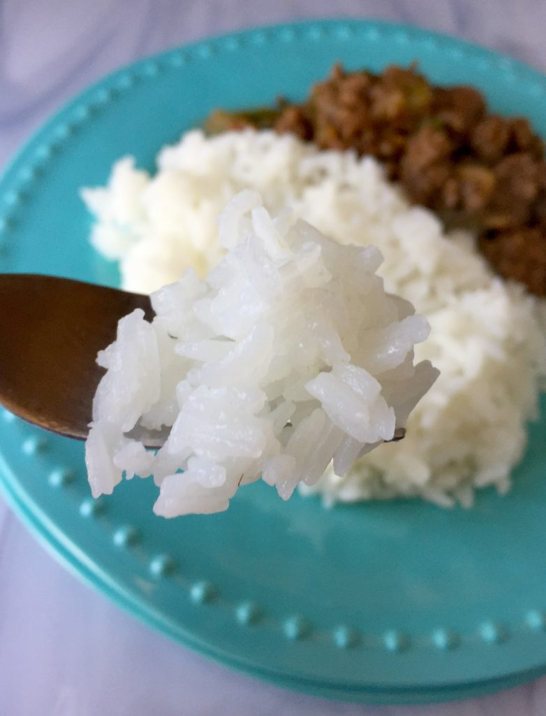 spoon of rice