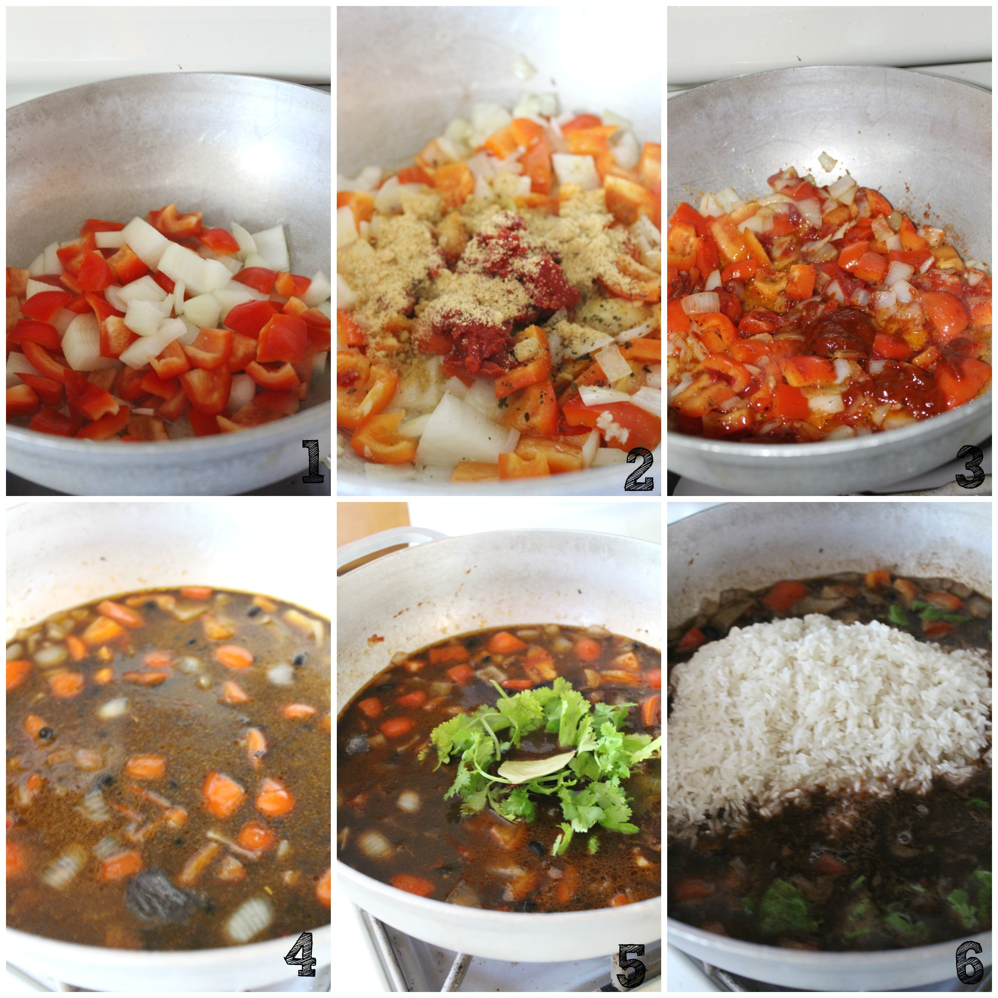 cooking-rice-collage