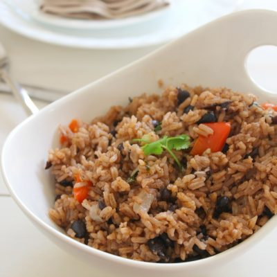 Moro de habichuelas negras ( Rice with black beans)